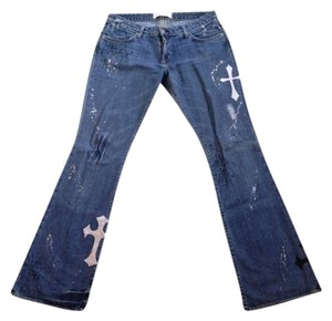 Paper denim cloth Boot Cut Jeans-Light Wash