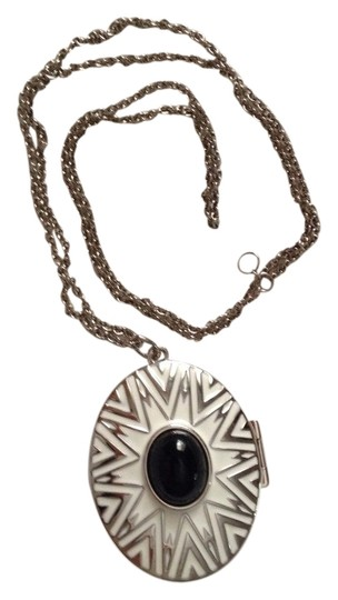 House of Harlow 1960 2 Sides Silver Pendant Necklace