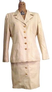 Escada ESCADA BEIGE Cotton Twill Skirt & jacket Suit