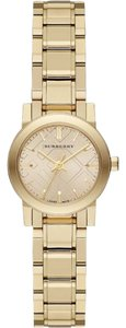 Burberry Burberry Unisex Swiss The City Light Gold-Tone Stainless Steel Bracelet Watch 26mm BU9227