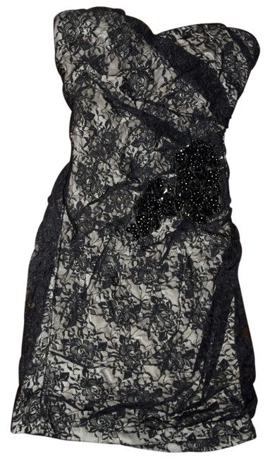 Preload https://item5.tradesy.com/images/forever-21-black-and-tan-beaded-lace-mini-cocktail-dress-size-4-s-3932269-0-0.jpg?width=400&height=650