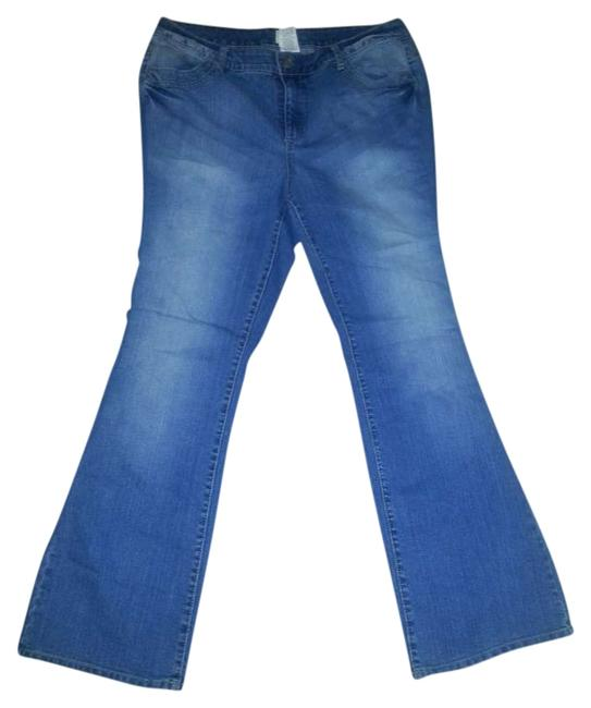 Item - Blue Medium Wash Butterfly Pocket Relaxed Fit Jeans Size 16 (XL, Plus 0x)