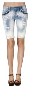 Miss Me Denim Shorts-Light Wash