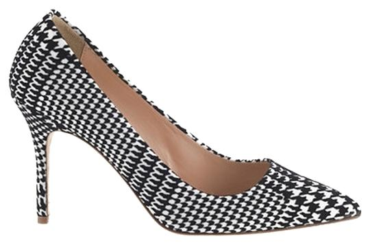 J.Crew Houndstooth Elsie Black and White Pumps