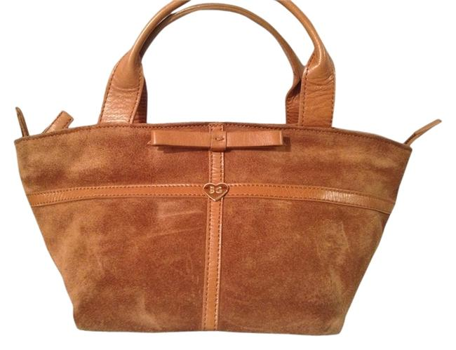 Item - Bag W Blugirl Leather Small Top Handle- Made In Italy Brown Suede Tote