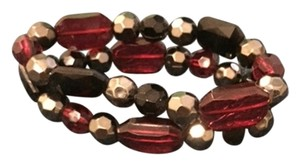 black and red stretch bead bracelet