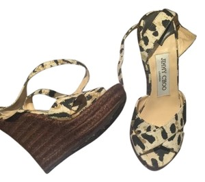 Jimmy Choo Leopard Wedges