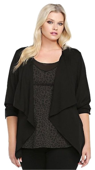 Torrid Open-front 1x 14/16 Only Worn Once Black Jacket