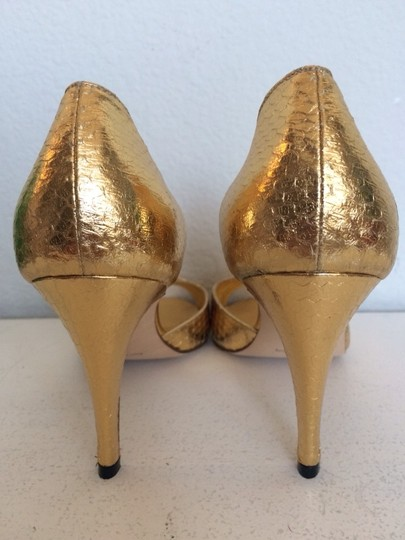 Manolo Blahnik Gold Pumps