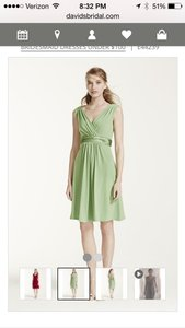 David's Bridal Green Dress