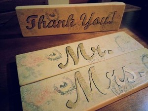 Mr Mrs And Thank You Handmaderustic Signs
