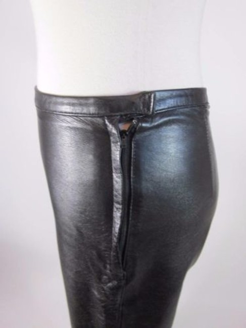 Other Genuine Leather Boot Cut Pants Black