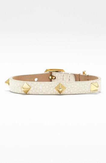 Vince Camuto MARCEL Gold-tone Textured Leather Stud Snap Bracelet Image 6