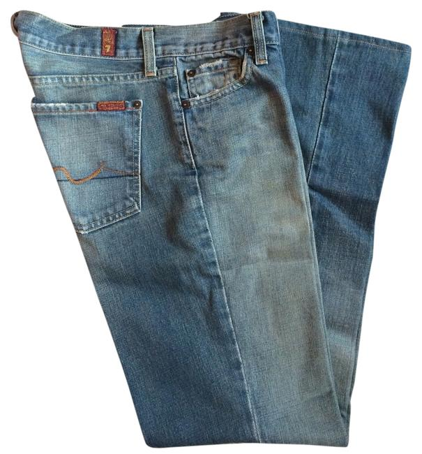 Preload https://item5.tradesy.com/images/7-for-all-mankind-blue-with-green-tone-medium-wash-boot-cut-jeans-size-28-4-s-3936619-0-0.jpg?width=400&height=650