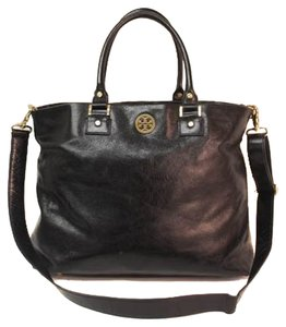 Tory Burch Leather Leather Tote in Black
