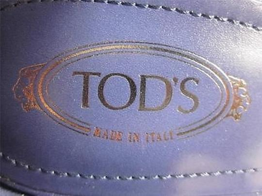 Tod's Leather Wedge Amethyst Purple Sandals