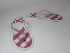 Burberry Check W White with Pink Sandals