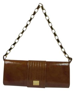 Kooba Leather Brown Clutch Shoulder Bag