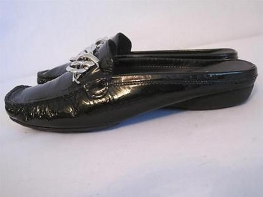 Stuart Weitzman Leather Chain Black Flats Image 2