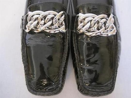 Stuart Weitzman Leather Chain Black Flats Image 5