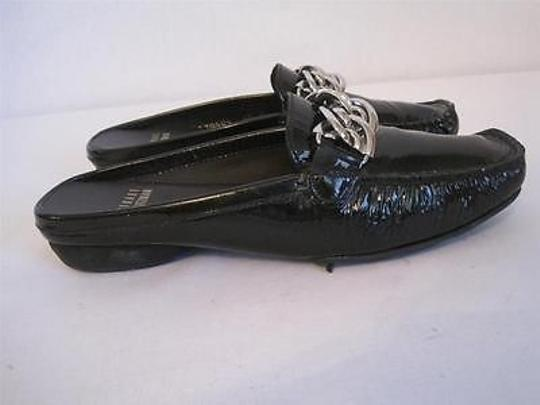 Stuart Weitzman Leather Chain Black Flats Image 7