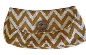 JOYN Chevron - Orange and White Clutch