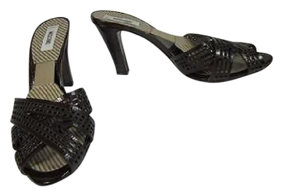 Moschino Brown Cocoa Brown Moschino Leather Heels Sz: Sandals 2b98ae