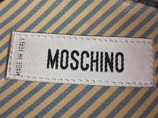 Moschino Leather Heels Cocoa Brown Sandals