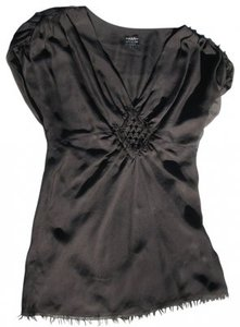 Little Joe Woman Design Runway Line Silk Top Black