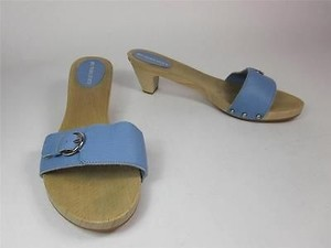 Burberry Leather Sky Blue Sandals