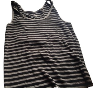Banana Republic Top Gray and black stripes.