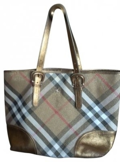 Preload https://item3.tradesy.com/images/burberry-nova-check-plaid-gold-twill-and-leather-tote-39387-0-0.jpg?width=440&height=440