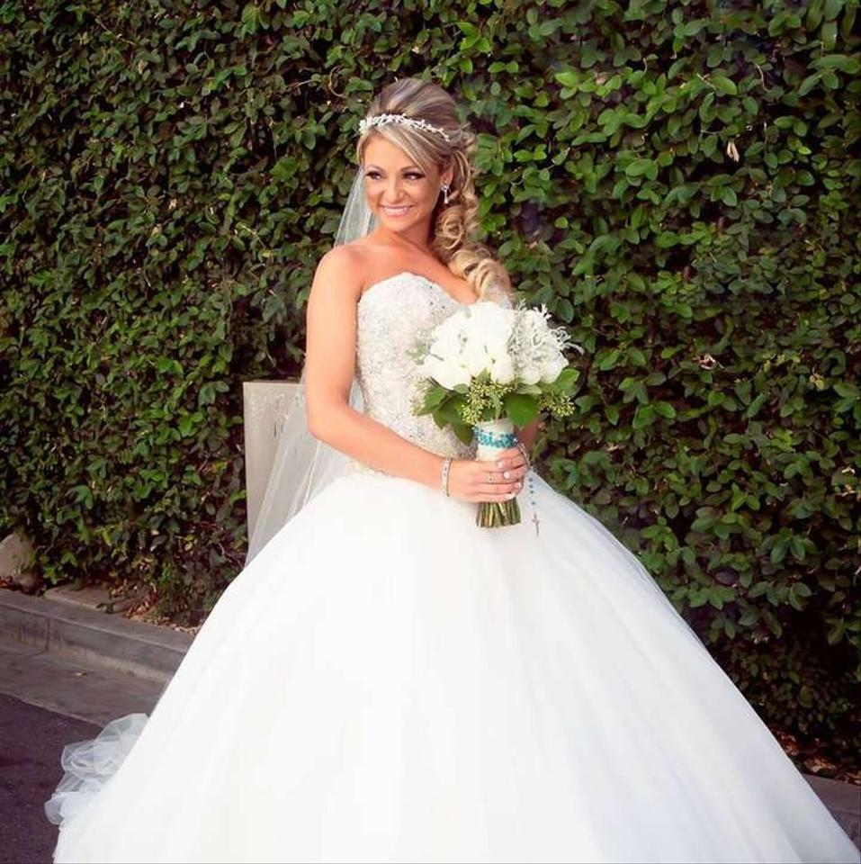 Crystal Bodice Wedding Gown: Allure Bridals H-426 C244 Strapless Sweetheart Neck