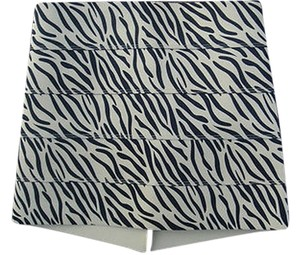 Pleasure Doing Business Bn Tiger Zebra Designer Bandage Skirt Browns