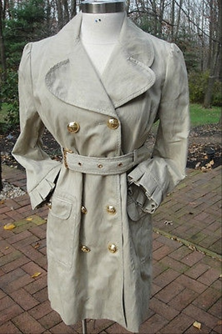 Juicy Couture Khaki Trench Trench Coat