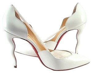Christian Louboutin Bridal White Pumps
