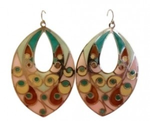 Forever 21 Multicolor teardrop earrings