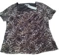 NY Collection Top animal print brown/white/black/gold Image 0