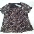 NY Collection Top animal print brown/white/black/gold Image 2