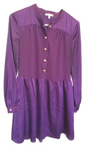 Juicy Couture short dress Longsleeve Sateen Satin on Tradesy