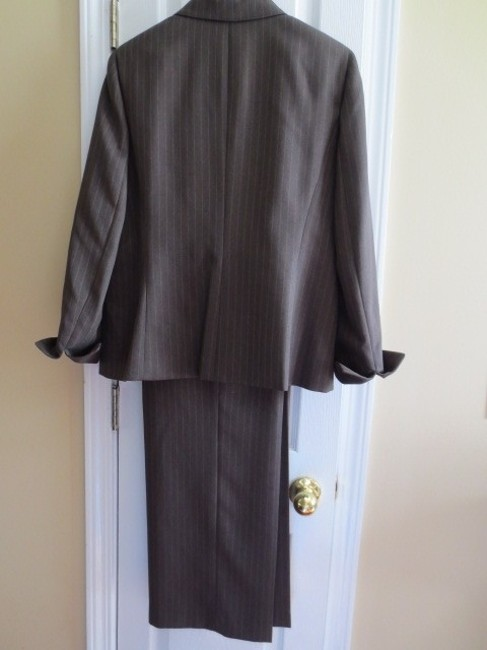 Kim Rogers Kim Rogers brown pin-striped pants suit
