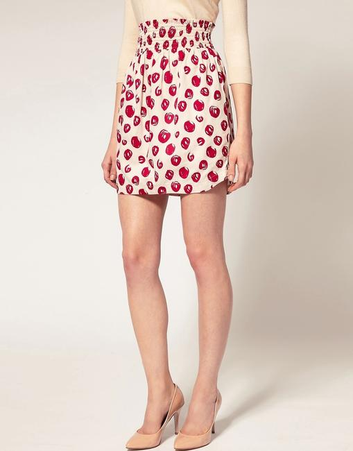 French Connection Skirt Red and White