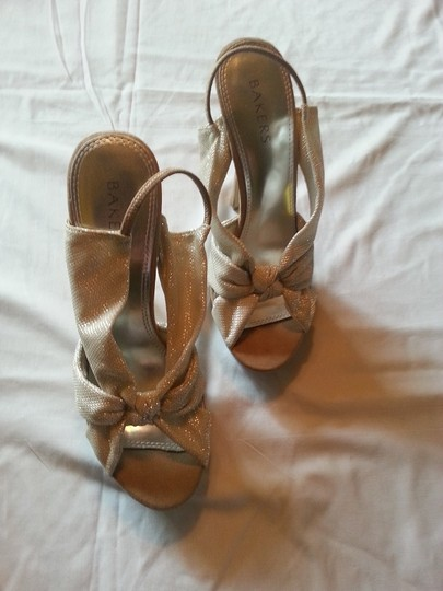 Bakers Stiletto Sexy Stylish Semi-formal Casual Natural Creme Sandals