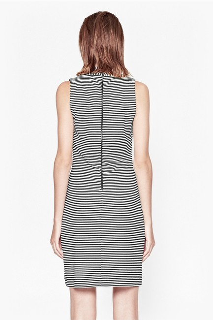 French Connection Lines Sleeveless Black/white Stripe Dress