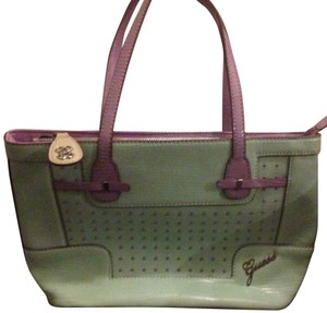 Guess Satchel in Mint And Lavender