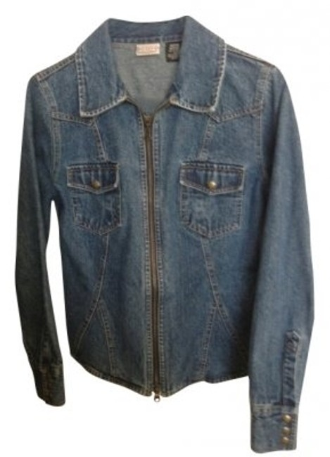 Preload https://item1.tradesy.com/images/arizona-jean-company-stonewash-zip-up-collared-denim-jacket-size-8-m-39410-0-0.jpg?width=400&height=650