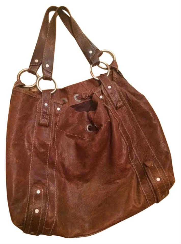 Ruehl No 925 Leather Boho Tote In Brown