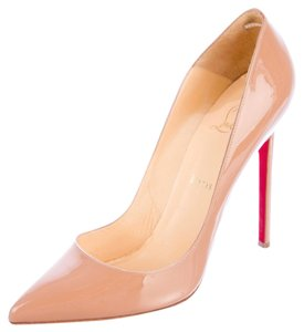 Christian Louboutin Nude Patent Leather Beige Pumps
