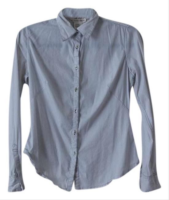 M.S.S.P. Pinstripe Button Down Shirt White/Blue
