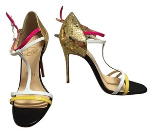 Christian Louboutin Multicolor/golden python Sandals
